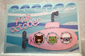 Pink October – Hunt For The Cure – Cricut Circle Blog Weekly Challenge #2: THINK PINK!