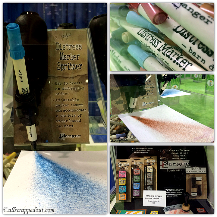 New Tim Holtz products - a Spritzer to use with Distress Markers and some mini Distress Inks and Ink Blending Tool.